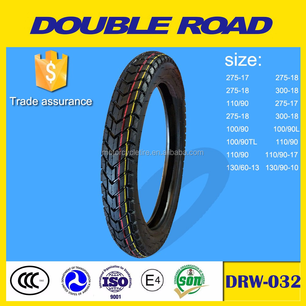 China high speed motorcycle tire manufacturer factory 275-18 tubeless