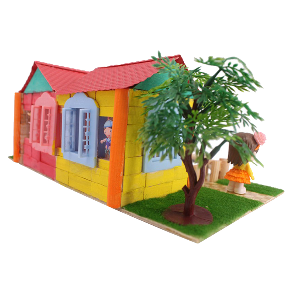 Handcrafts Miniature Project Diy Dolls House Garden Yard Building Model Kids Hands On Toy Birthday Gift Cheap Wooden Dolls House Huge Doll Houses For