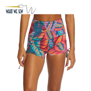 New Products 2018 Wholesale Women Yoga Sweat Shorts Printed Fabric