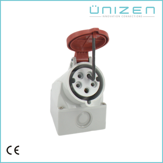 UNIZEN male female industrial plug and socket 5 pin connector screw lock