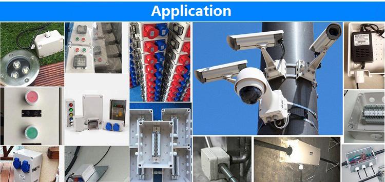YIKA 110*80*85mm ABS Außen kunststoff elektronische gehäuse wasserdicht IP67 elektrische kabel junction box