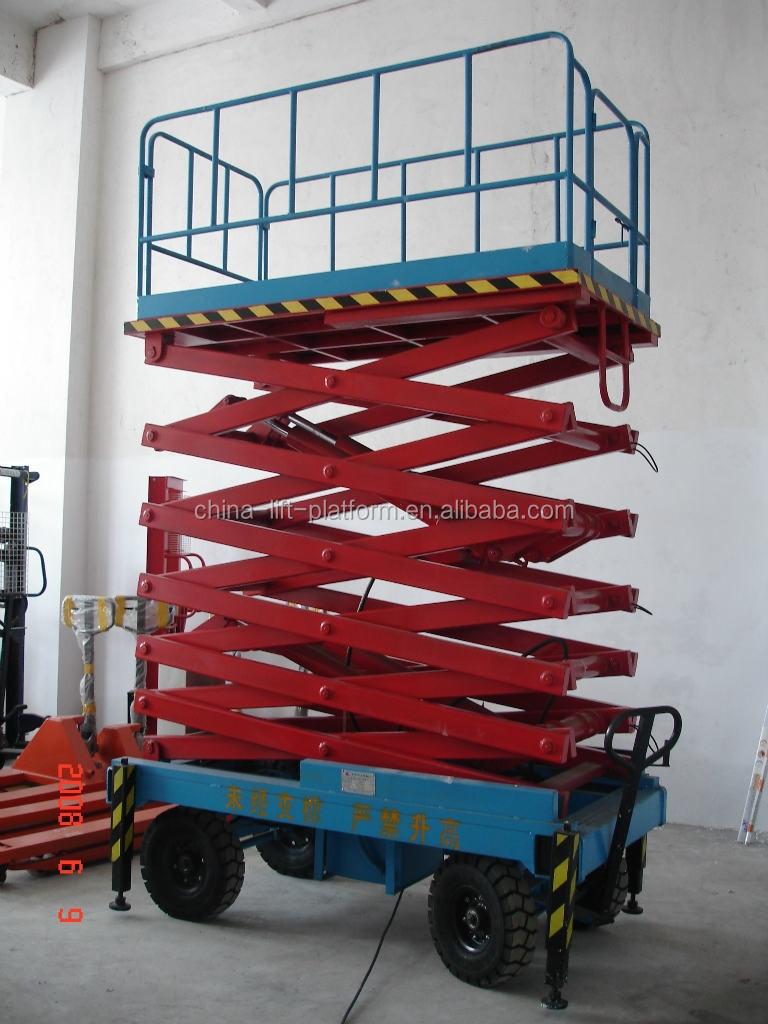 Hydraulic Lift Trailers Sales : Electric hydraulic scaffolding scissor lift trailers for
