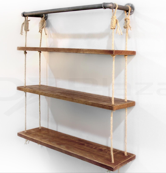 Industrial Iron Pipe book Shelves 3 racks display for living room