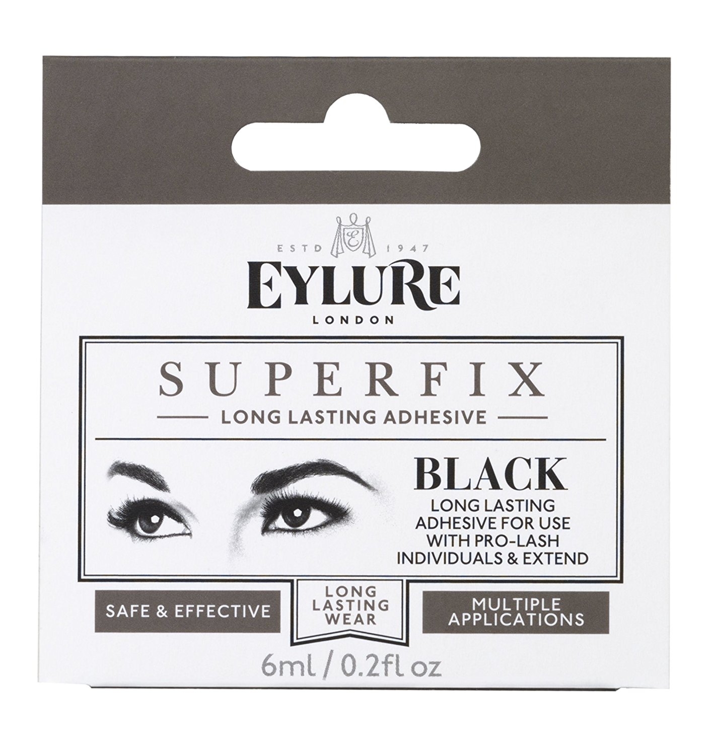 f3b2027bad3 Get Quotations · Eylure Superfix Black Drying Adhesive For Individual Lashes  by Eylure Eyelashes
