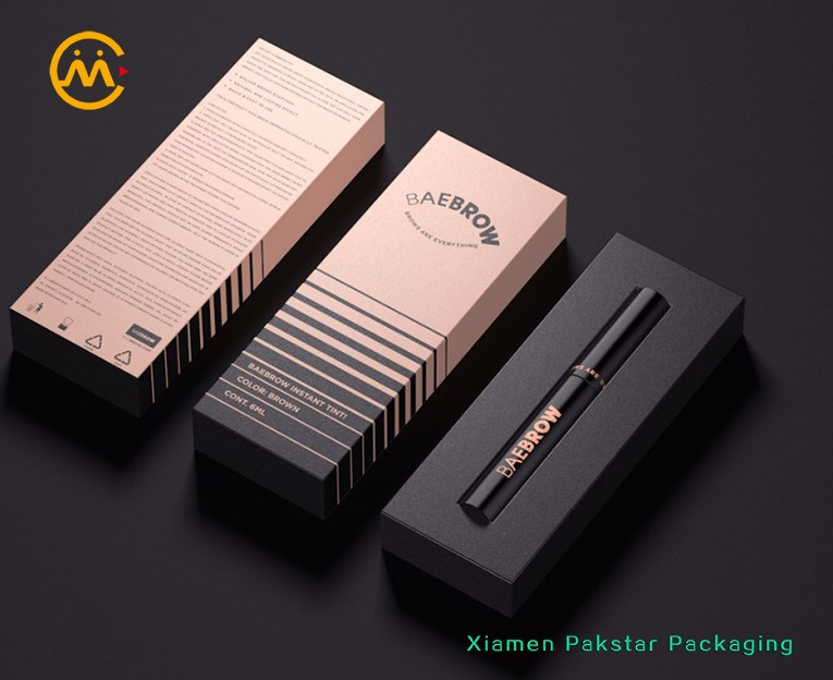 China factory wholesale custom print mascara lipstick cosmetic cardboard paper packing box