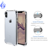 Crystal Clear Reinforced Corners TPU Bumper Cushion Panel Cover phone case for iPhone X xs