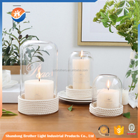 Factory supply customized elegant glass candle holder/candle jar for wholesale