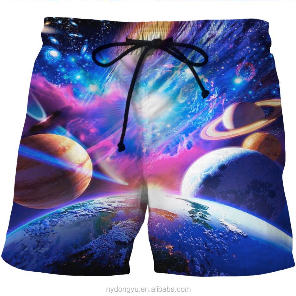 Mannen snelle droge globe gedrukt beach shorts blauw l na for Islamitische sportkleding vrouwen