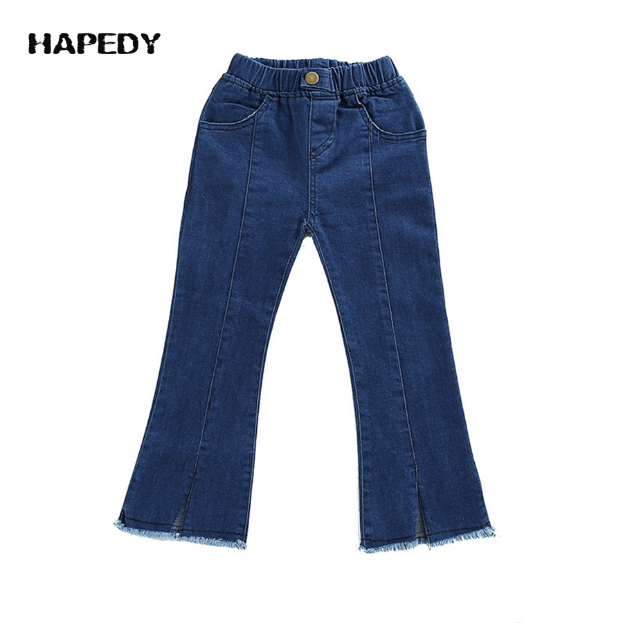 Korean Fashion Young Fancy Girl Jeans Tight Baby Designer Jeans