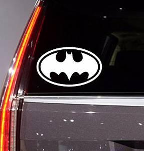 "Auto Sticker - Auto Decal - Batman - Classic - Auto Window Sticker Decal for Car Truck SUV Motorcycle 5"" Tall (color : white) (White 01) (White14)"