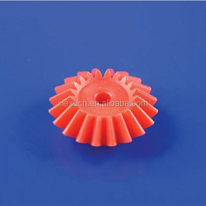 Custom red plastic nylon spiral bevel gear for precision machinery
