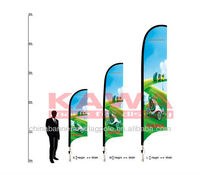 3.5m fiber glass outdoor advertising feather flag pole