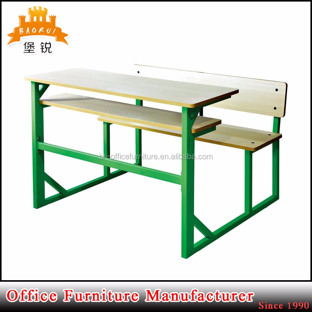 BAS-089 wholesale good quality college primary school furniture student table and chairs set