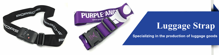 Hot Sale Personalized Custom Purple Luggage Belt Luggage Strap