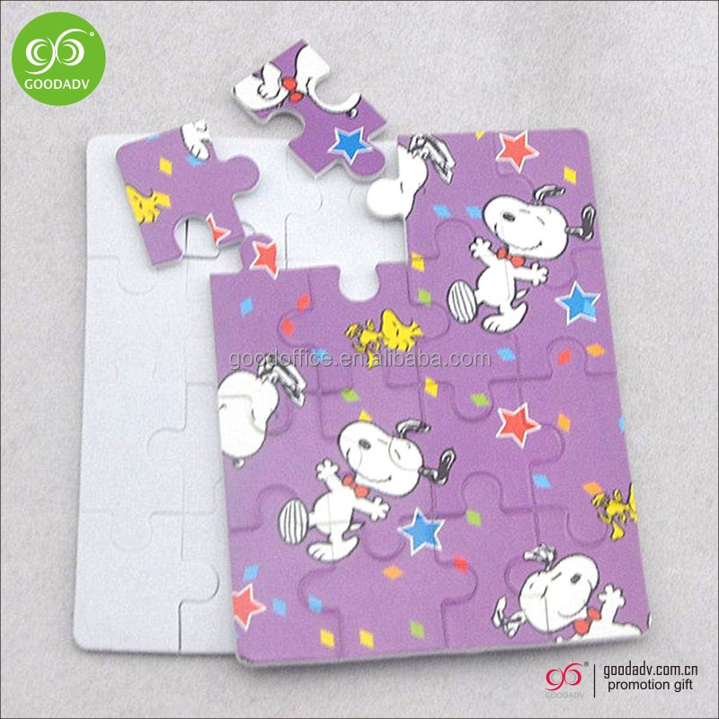 Promotional gift 2016 custom printed cardboard mini puzzle