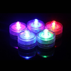 Battery Operated Submersible Candles Waterproof Mini LED Tea Light with Single Bright LED for Flower Vases
