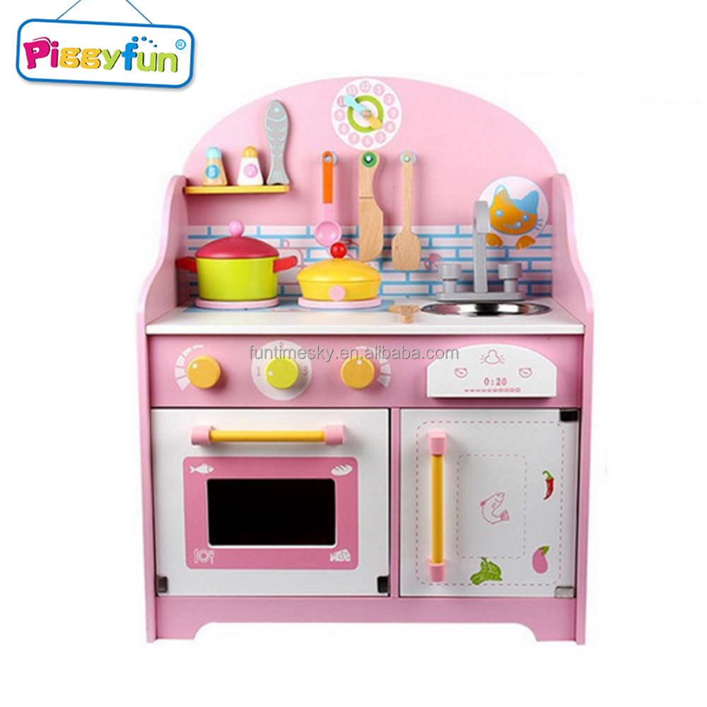 New Products Kids Play Wooden Kitchen Toys, Children Wood Playset Toy AT11883