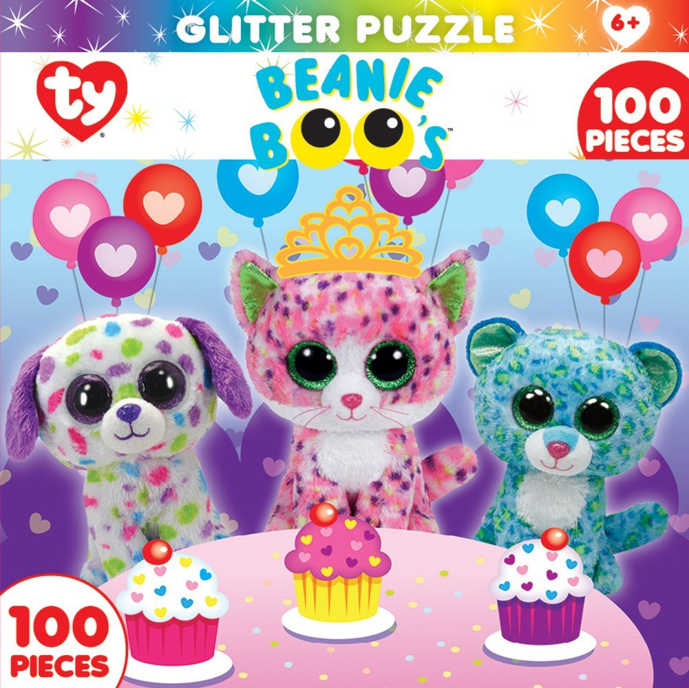 Get Quotations · MasterPieces Ty Beanie Boo Sprinkles Club - 100 Piece  Glitter Kids Puzzle cb8a1aec7748