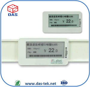 TCP/IP protocol through standard Ethernet cable or Wifi 216x42 digital e paper ESL