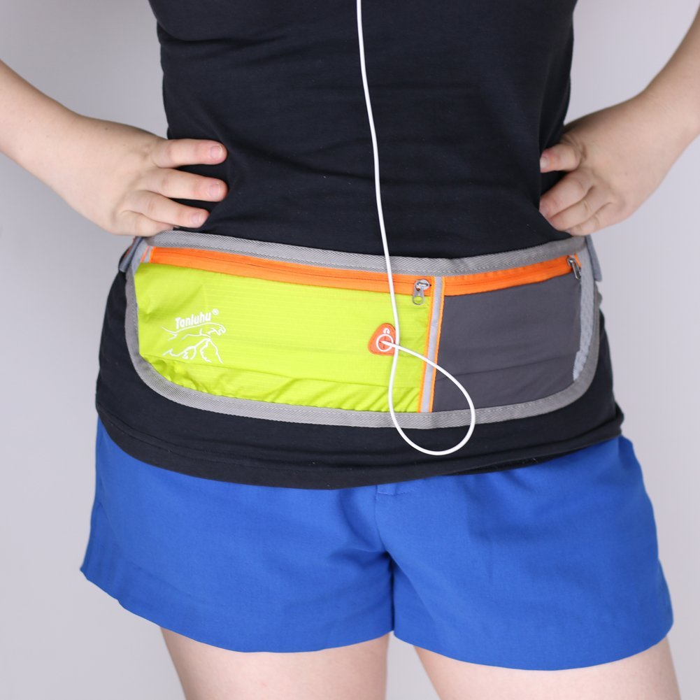 Hilitchi Fashion Ultralight Waterproof Women Men Sports Travel Running Belts / Runners Belt / Race Belt / Fitness Workout Belt/waist Pack Runner Belt / Waist Pack Belt / Runners Belt Waist Pouch / Sport Running Waist Bag / Runner's Waist Pack Protects Items During Workouts, Cycling, Hiking,
