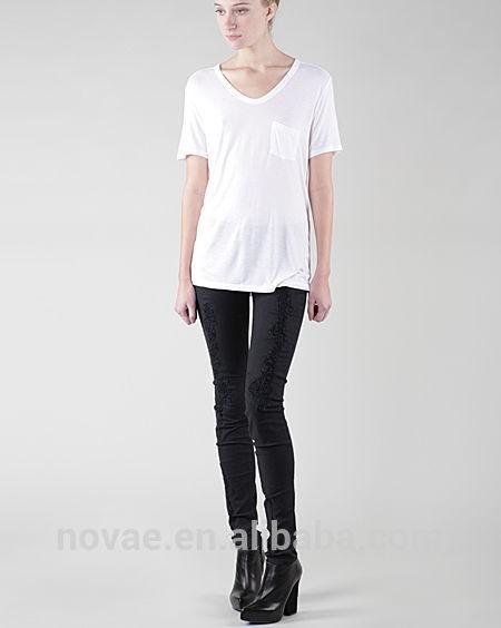 98fc6af0cccda ملابس نسائية موضة 2014 النمط الأوروبي قميص المرأة مثير الخامس الرقبة ملابس  نسائية قميص فضفاض الصانع