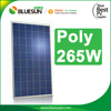 Poly 265w solar panel price per watt solar panels for home use