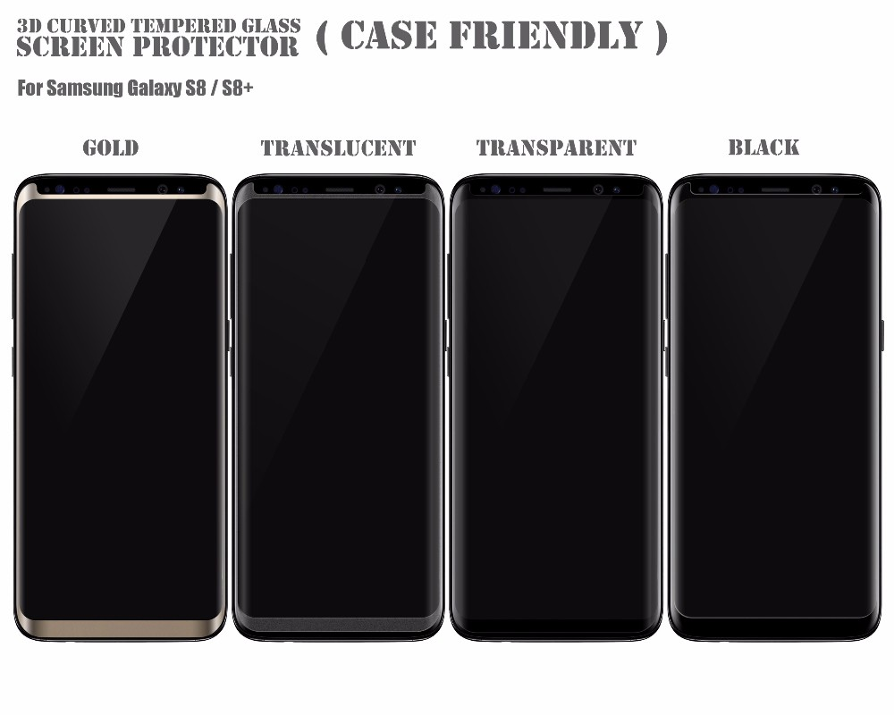 samsung s8 screen protector glass case