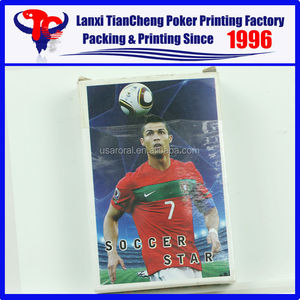 2015 HIGH QUALITY SOCCER STAR paper playing cards on hot sale