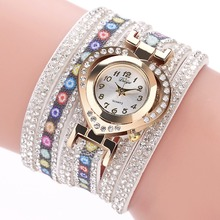 Duoya Casual Vintage Luxury Gold Multilayer Dress watches Women Weave Wrap Chains Leather Bracelet Wrist Watch