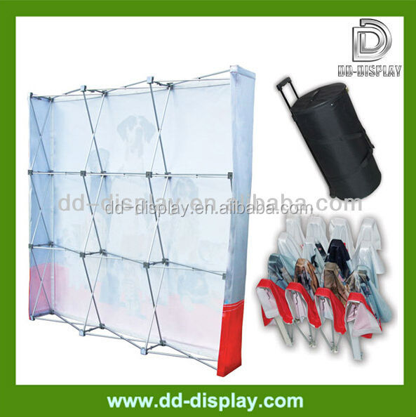 Expandable Popup Fabric Display for Advertising