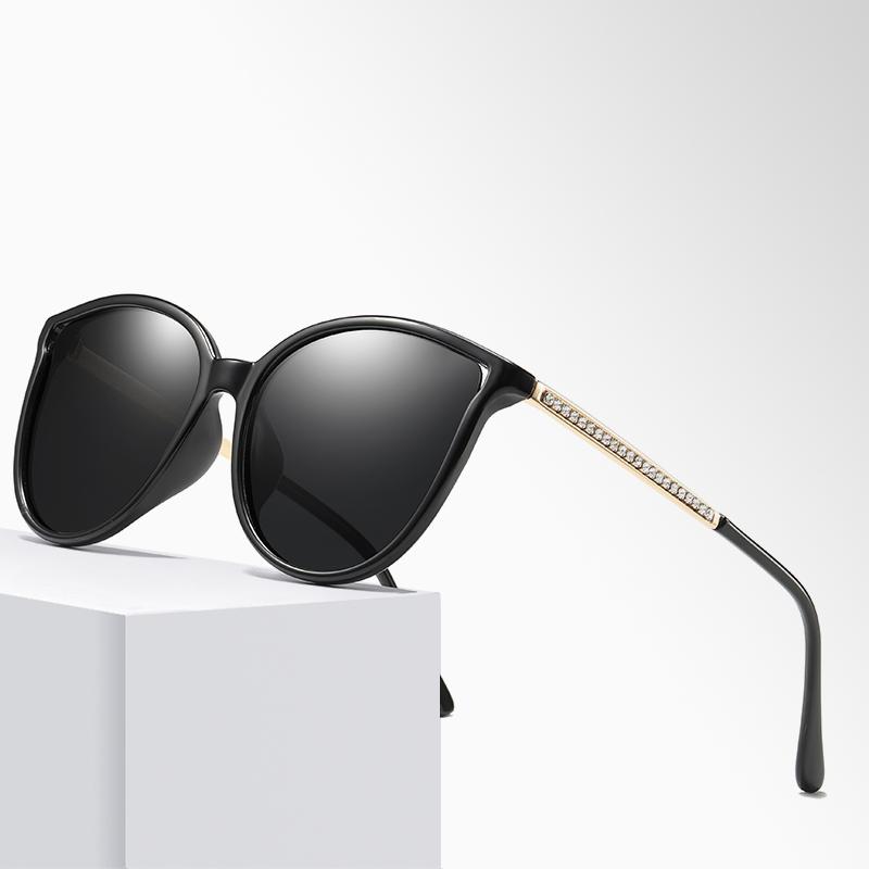 2019 Women Fashion Polarized Sunglasses Car Driving Sun Glasses 100% UV400 Polarized Goggles Black Style Eyewear фото