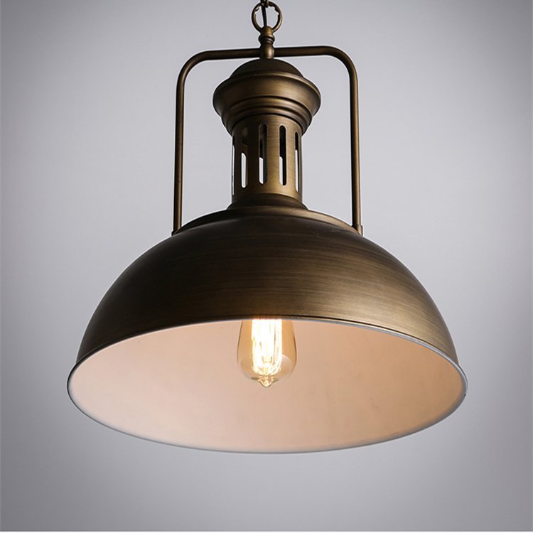 Pastoral Iron old fashioned industrial lighting shade retro iron rattan pendant lamp