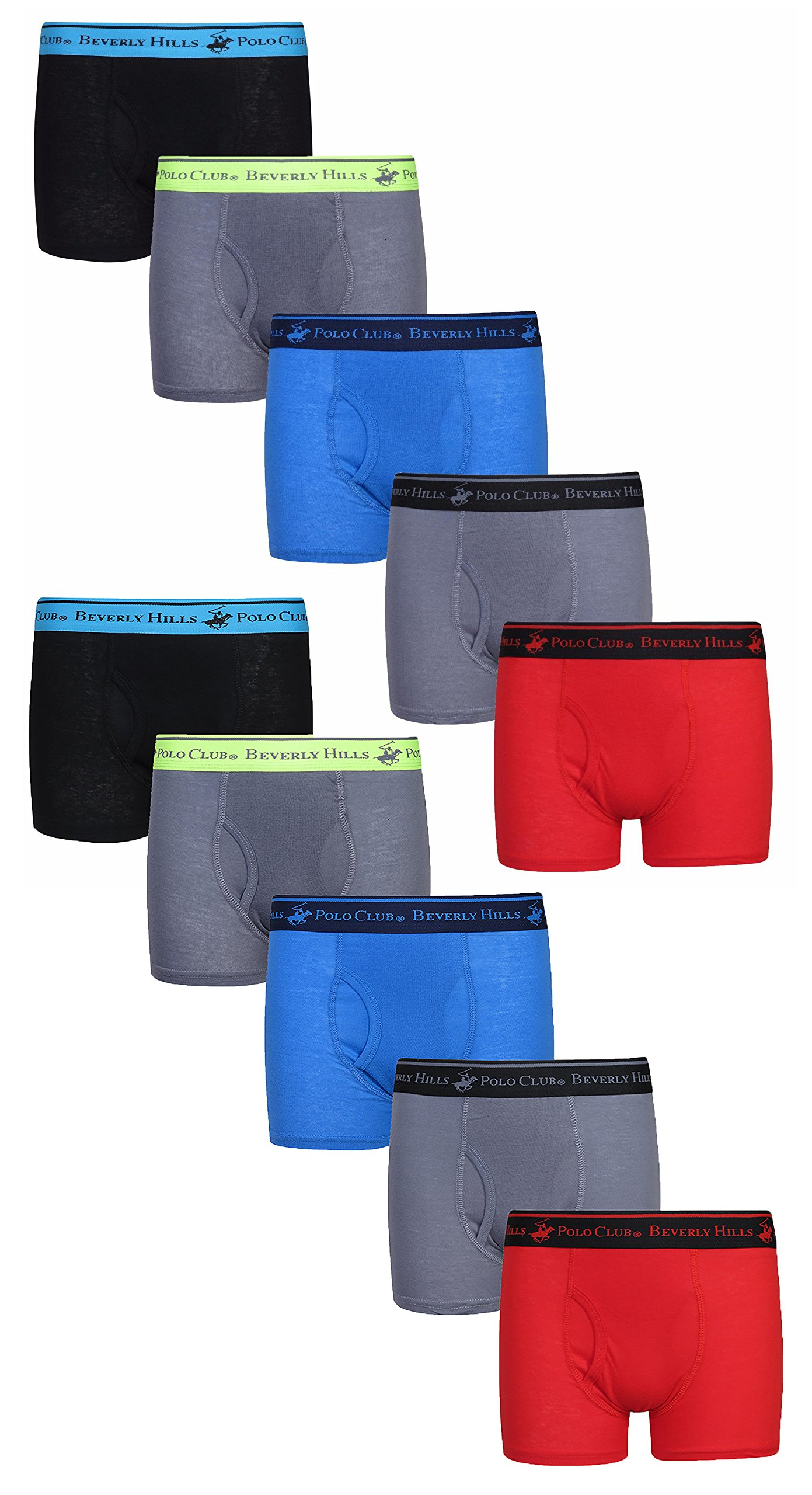 28a2665ed9 Get Quotations · Beverly Hills Polo Club Boys' Boxer Briefs (Pack Of ...
