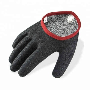 Booms Fishing for Handing Crinkle Latex Free Hands Fishing Safety with Magnet Release Fish Gloves