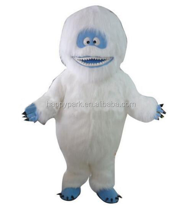 Fur snow monster orangutan yeti mascot costume