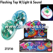 New Novelty Toy Spin Light Up Sound Led Flashing Spinning Top