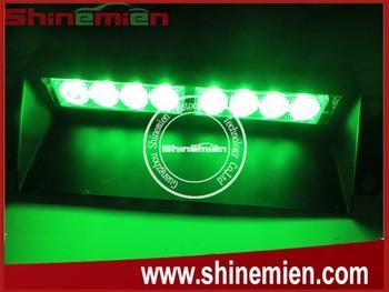 12v 8led Green Color Waterproof Led Flashing Strobe Emergency Lights For  Security Vehicles - Buy Green Led Strobe Lights 12v,12v Waterproof Led