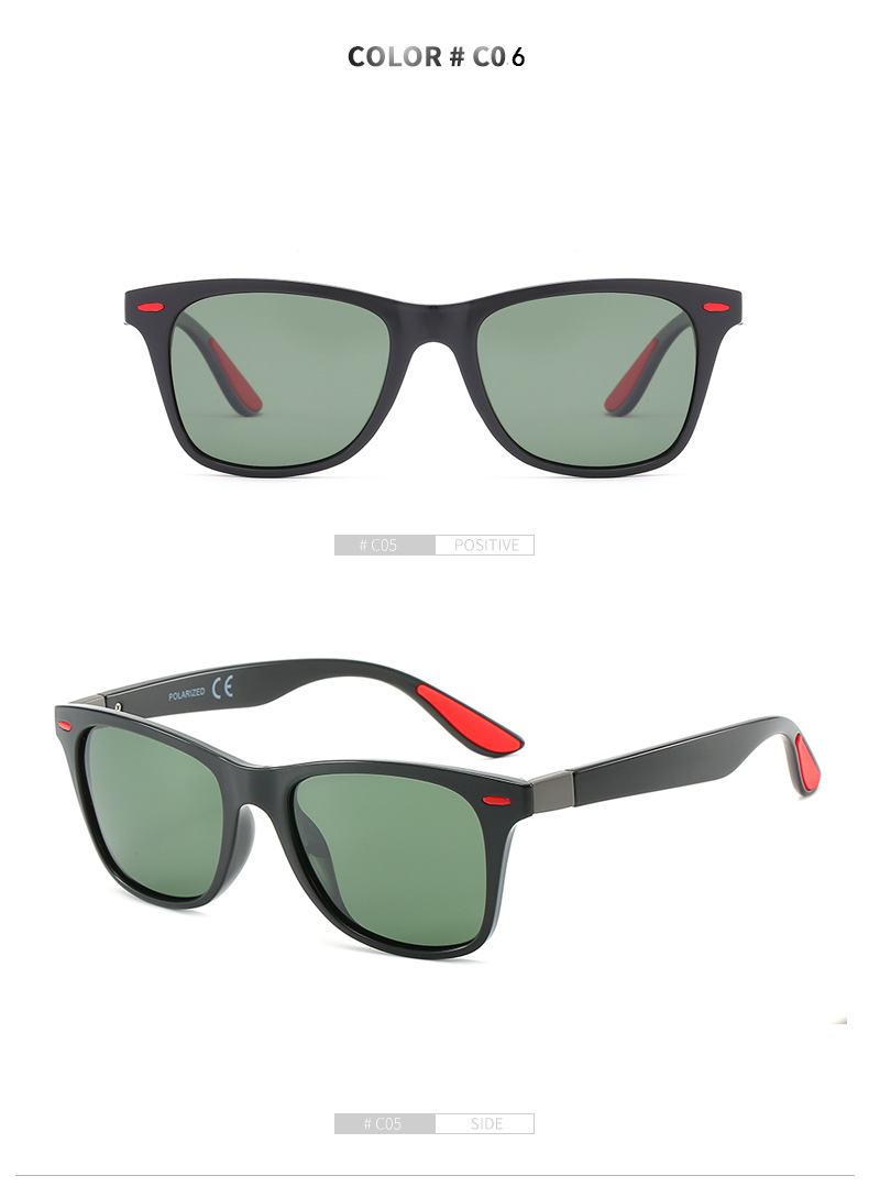 Caoshi Accept OEM Fashion Mens Sunglasses Black Sports Sun Glasses Cycling Eyewear Mens Sunglasses Polarized
