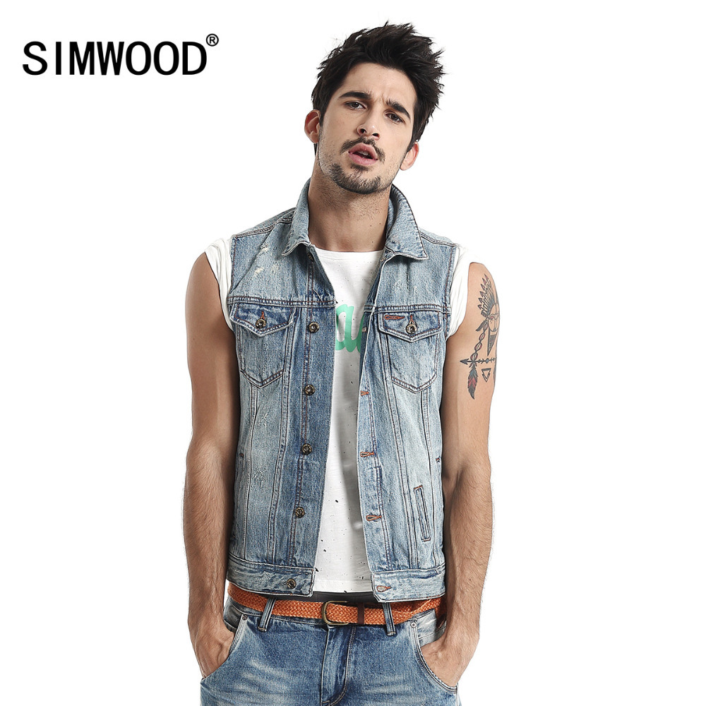 Men's Denim Jackets. invalid category id. Men's Denim Jackets. Showing 40 of 40 results that match your query. Product - Edwards Garments Men's Sleeveless V-Neck Vest. Product Image. Price $ Product Title. Edwards Garments Men's Sleeveless V-Neck Vest. Add To Cart. There is a problem adding to cart. Please try again.