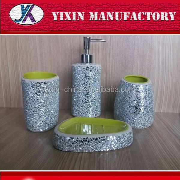 Red Lustre Mosaic Bathroom Accessories 552905M