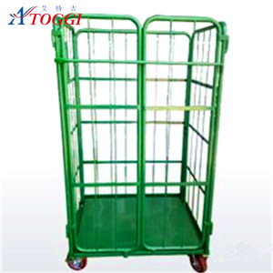metal heavy duty rolling cage cart for industrial