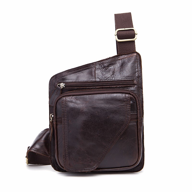 7b01371a9d4f WESTAL Genuine Leather Bag Men Waist Pack Small Shoulder Crossbody ...