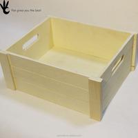 No lid Arrangement Toy Tool Make up Wooden Desktop Storage box
