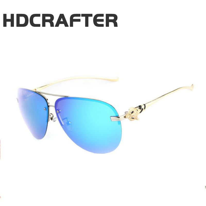 HDCRAFTER 2017 New Men and Women Polarized Sunglasses Color Film Series Fox Head Frog mirror Classic Glasses