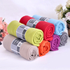 Promotional bottom price 100% polyester custom size solid colour yarn dyed polar fleece throw blanket