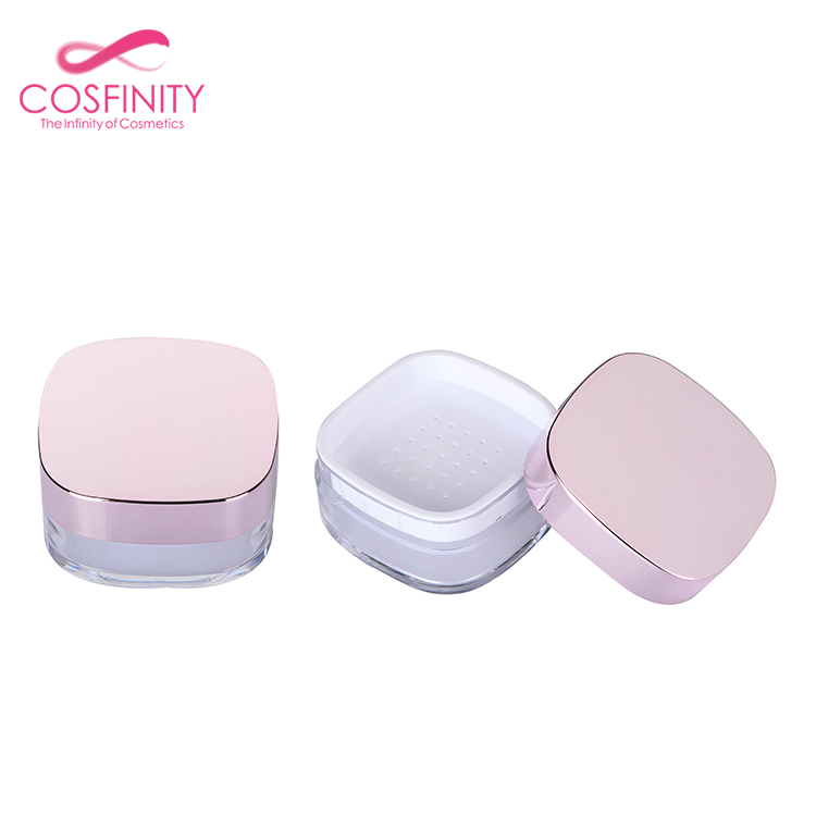 cosmetic package private logo make up loose powder bottle 3g 5g 8g 15g 30g plastic airless small cream jars