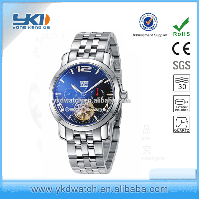 Youtube hot mens wrist watches 3 atm water resistant stainless steel watch case