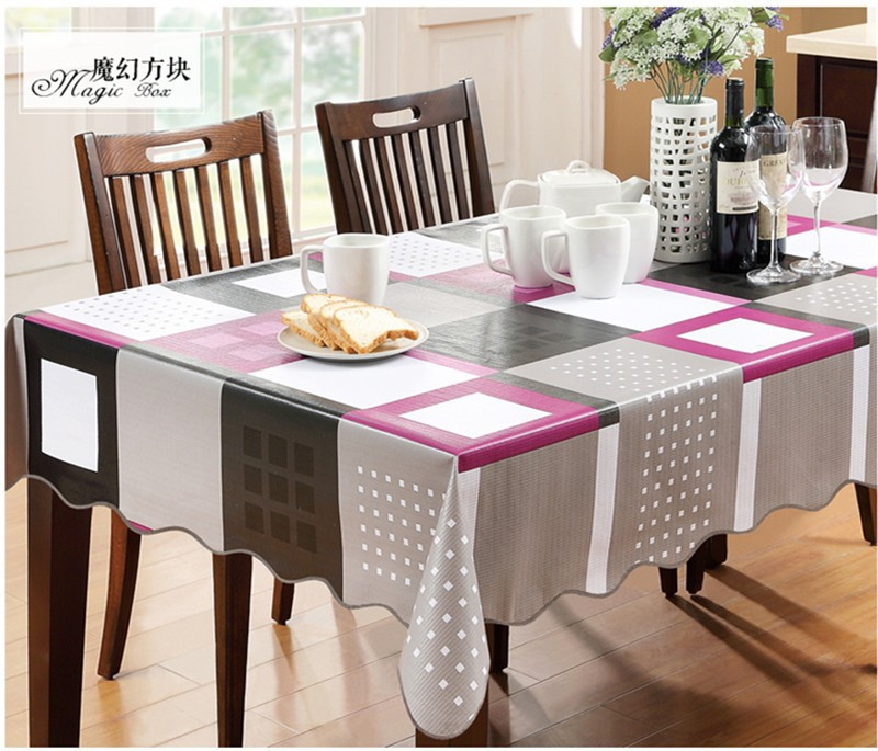 Dining Room Table Cover Pads: YD Europe Waterproof Table Cover Magic Box Plastic PVC