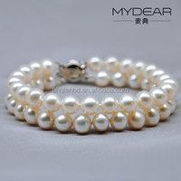 Best seller 925 sterling silver real pearl bracelet, pearl jewelry