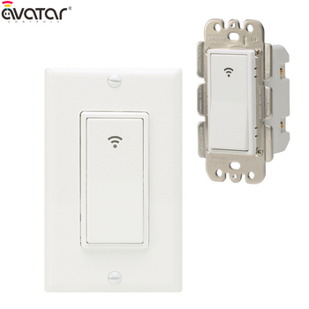Smart Wi-Fi Wall Light Switch Work With Amazon Alexa and Google Home Fit for US/CA  Wall Switches